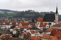 The beautiful town of Český Krumlov (Jason Shorten) Tags: 50mm nikkor d5300 nikon český krumlov czech republic cz europe town city cityscape landscape culture historical hill steeple bohemia