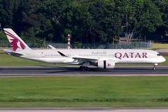 Qatar Airways | Airbus A350-900 | A7-ALG | Singapore Changi (Dennis HKG) Tags: qatar qatarairways qtr qr airbus a350 airbusa350 a350900 airbusa350900 aircraft airplane airport plane planespotting singapore changi wsss sin a7alg oneworld canon 7d 100400