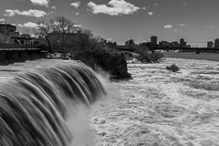 Rideau Falls (SNAPShots by PJW *Join LNP*) Tags: water falls waterfalls blur movement bw bnw monochrome blackwhite shadows exposure light longexposure nature landscapes scene summer nd8 sky outside paysage waves
