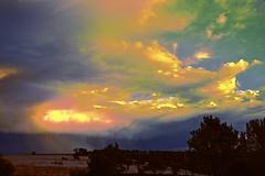 Bulla Sky!! (maginoz1) Tags: abstract art playingwithcurves colour manipulate sky landscape rainbow storm bulla melbourne victoria australia autumn april 2017 canon g3x