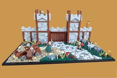 9 Kingdoms - The Gate (second version) (-Balbo-) Tags: lego moc balbo bauwerk creation brandküste goats goat ziegen rohan lordoftherings gate wall castle