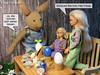 Easter 2017 (alegras dolls) Tags: osterhase ostern easterbunny easter barbie fashiondoll 16scale paintedeggs diorama