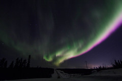 March aurora (She Likes Odd) Tags: aurora auroraborealis northernlights northernmanitoba thompson manitoba thompsonmanitoba canonphotography canon60d canoneos60d tokina1116mm tokina spaceweather g2 geomagneticstorm nightsky nightphotography astrophotography snow spring