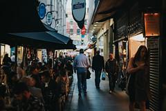 Degraves Street, Melbourne (Randy Wei) Tags: degravesstreet melbourne fujifilm zhongyi mitakon speedmaster streets australia outdoors lowlight people