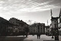 Aosta in black and white (davidecerrato) Tags: nikon fe nikonfe 50mmlens filmcamera filmphotography filmisnotdead ishootfilm keepfilmalive filmlove film 35mm 35mmphotography ilford xp2 xp2super blackandwhite bnw aosta monochrome biancoenero