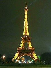 Paris  France  - The Eiffel Tower  -  Night