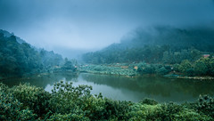 Cold Land (=Heo Ngốc=) Tags: cold fog lake moutains flower trees tokina1116 d300 atmosphere viet nam