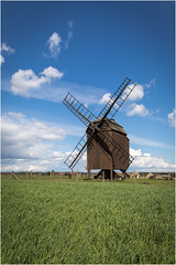 The Mill . (:: Blende 22 ::) Tags: mill sachsen deutschland germany saxony landscape landschaft baum tree windmill clouds bluesky wiese meadow wolken bewölkt cloudy canoneos5dmarkiv ef2470f28liiusm