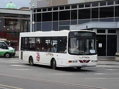 Littles YAZ8645 Derby (Guy Arab UF) Tags: littles b4 yaz8645 1999 dennis dart slf wright crusader derby bus station derbyshire independent buses gills travel ulsterbus 645