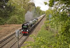 WC no.34046 'Braunton' (alts1985) Tags: wc no34046 braunton bob no34052 lord dowding belmond surrey hills pullman main line steam train trumps mill lane virginia water 280417