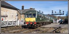 Daisy (Blaydon52C) Tags: dmu britishrail britishrailways class101 metrocammell daisy nymr northyorkshiremoorsrailway grosmont goathland branchline green signals railway rail railways trains train transport