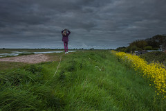 I love the bank walk (paul_taberner_photography) Tags: marshside southport walking