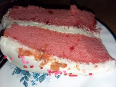 Strawberry Cake. (dccradio) Tags: lumberton nc northcarolina robesoncounty strawberry cake frosted frosting icing sprinkles candysprinkles layercake dessert treat sweet food eat