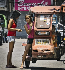 Seen (Beegee49) Tags: street girls filipina tricycle bacolod city philippines streetphotography
