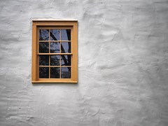 Zoar (HJharland5) Tags: wall window zoar village ohio historic texture white frame reflection glass