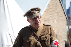 Faces of Vimy Ridge 100: Talking war during peace (Can Pac Swire (away for a bit)) Tags: toronto ontario canada canadian forces armed army fortyork national historic site reenactment worldwar one 1 i wwi great war 1917 battle vimyridge 2017 100th 100 anniversary centenary remembrance 2017aimg7856 soldier