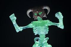 Skeleton Warrior is ready to spook (novuscarpus) Tags: skeleton titan warrior october toys transparent light action figure toy 3d printed helmet
