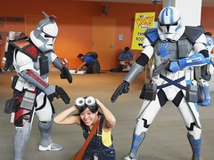 Caught by Stormtroopers (_jwong) Tags: costumes nerd geek cosplay sanjose geeks stormtrooper comicconvention minion despicableme bigwowcomicfest