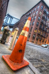 (Stevelb123) Tags: newyorkcity longexposure nightphotography bridge newyork brooklyn manhattan dumbo firehydrant manhattanbridge hdr highdynamicrange trafficcone brooklynbridgepark