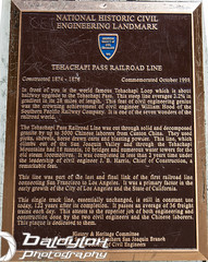 Tehachapi Sign 2 (Baldylox Photography) Tags: california railroad mountains tunnel hills unionpacific southernpacific uprr tehachapiloop doubletrack