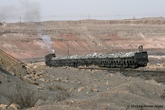 I_B_IMG_9714 (florian_grupp) Tags: china railroad train asia mine open transport railway loco steam cast xinjiang locomotive coal load js sandaoling
