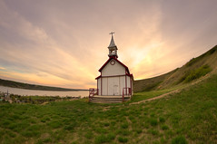 Church on the Hill (Michael Squier) Tags: sunset landscape fisheye saskatchewan 8mm hdr bower lebret