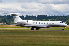 N650HC (sabian404) Tags: cn plane portland airplane airport aviation international pdx g6 gulfstream kpdx gvi 6022 g650 glf6 n650hc gha22