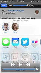 Flickr integration coming to iOS 7! (MacSmiley) Tags: flickr screencapture wwdc iphone comingthisfall ios7 sharesheet