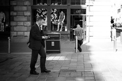White Hot (stephen cosh) Tags: 50mmsummilux bw blackwhitephotos blackandwhite blackandwhitephotos candid city glasgow humancondition leicammonochrom leicam9 leicamm life mono people rangefinder reallife scotland sepia stephencosh street streetphotography town