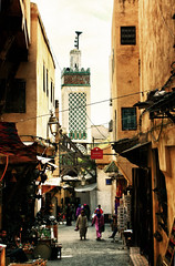 Walking in the Fes Medina (nep000) Tags: africa streets northafrica mosque morocco fez maroc medina fes islamarchitecture