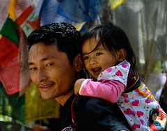 Safe on Papa's Back! - Explored (@mons.always) Tags: portrait baby nikon dad bhutan father papa d90 18105mm