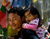 Safe on Papa's Back! - Explored (@mons.always) Tags: portrait baby nikon dad bhutan father papa d90 18105mm