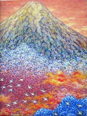 Majestic 3 (SURIN JUNG) Tags: abstract mountains japan landscape asia wildlife impressionist oilpainting surin fujiyama pointillism oiloncanvas surinjung suringallery surincjung