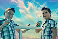 Thanassis x 2  (Love me tender .**..*) Tags: boy summer sky colors june kids photoshop portraits children photography dimitra thanos 2013 onboat nikond3100 kirgiannaki vigilantphotographersunite