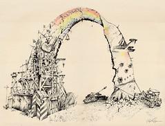 RainbowRussianStyle (Sergei U. Rukavishnikov) Tags: pen pencil ink surrealism surreal cardboard coloured gel