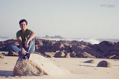 Carlos (Valéria Daniluski) Tags: summer sky sun man praia beach portugal golden cool europe waves stones horizon free hour