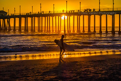 HB Pier Sunset w- surfer-1812 (dvphoto9) Tags: sunset beach coast nikon surfer ngc hbpier d7000 magicmomentsinyourlifelevel1 onlythebestofflickr