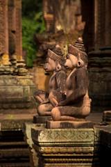   The Monkey Guard of Banteay Srei (Owen Wong (Thank you)) Tags: architecture temple monkey cambodia carving shiva siemreap angkor  banteaysrei