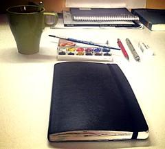All set (Ana's Cortex) Tags: sketching coffe sketchkit
