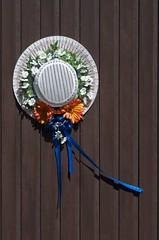 Summer Hat, Warm Breezes (jah32) Tags: summer white ontario canada hat nikon seasonal ornate simple strawhat thunderbay summerhat d7000 oconnortownship ornatebutsimple