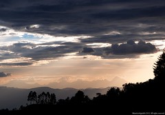 Farallones del Citara.  Desde Sonson (Ivan Mauricio Agudelo Velasquez) Tags: sunset cloud mountain tree rural arbol atardecer montaa could nube cordillera