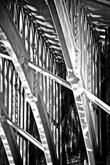 Dappled light (tootdood) Tags: bridge light reflection water metal canal iron steel dappled span caustic rochdale canon600d