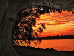 On Fire! (TonyinAus) Tags: water weather landscapes sunsets australia rivers
