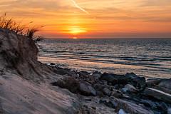 Digue du braek - Dunkerque (Dubus Laurent) Tags: street light sunset sea urban mer plant france art beach nature water rock stone night port sunrise french soleil boat sand eau dunes sable