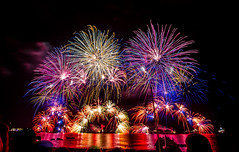 Cannes, 69th anniversary of the liberation (Cristiano Secci) Tags: show sea music france night lights fireworks cannes gig fete croisette sigma1020