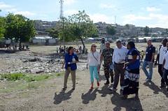 Visite au Camp Acra de M. Pedro Medrano, le Coordonateur Principal des Nations Unies pour la Rponse au Cholra (IOM Haiti) Tags: haiti united migration camps nations cholera response iom idp internationalorganizationformigration