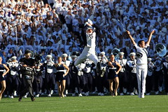 Drum Major Doing His Flips (puffclinty) Tags: football state florida stadium central beaver knights penn lions nittany ucf psu