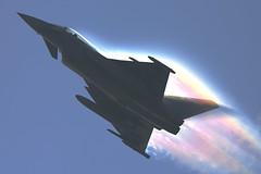 Typhoon #8 (G&R) Tags: effects austria rainbow prism airshow eurofighter atmospheric typhoon raf forces leuchars austrian armed 2013