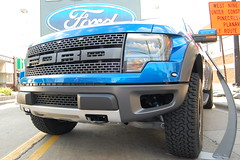 Do You See What I See? (Bridge356) Tags: auto new cruise blue detail ford car truck big alley automobile michigan nine dream large sunny f150 raptor ave huge woodward friday mile ferndale svt turbodiesel 2013 62l
