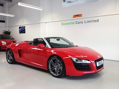 Essential cars used Audi R8 Spider Southampton Hampshire (essentialcarslimited) Tags: cars hampshire spyder used essential approved southampton audi limited rac dealer warranty r8 eastleigh